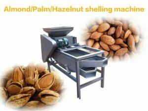 almond shelling hulling machine