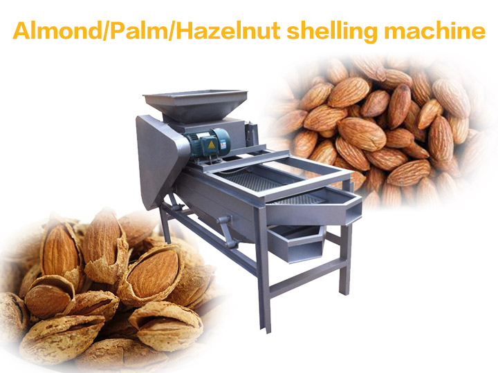 almond shelling hulling machine