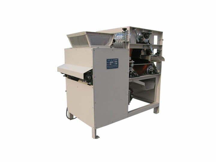 Soaked almonds peeling machine