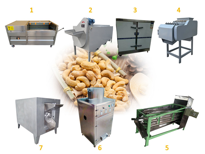 cashew nut shelling line