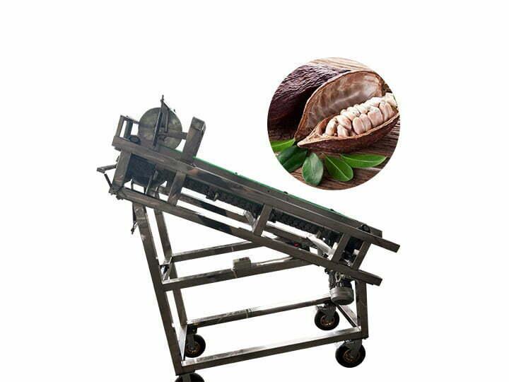 cocoa pod cracking machine