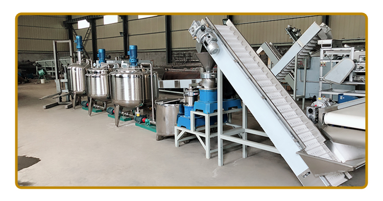 fully automatic peanut butter processing plant