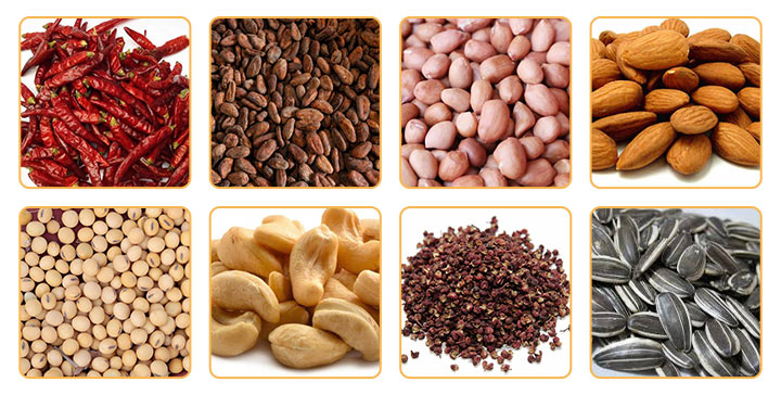 peanut roasting machine application