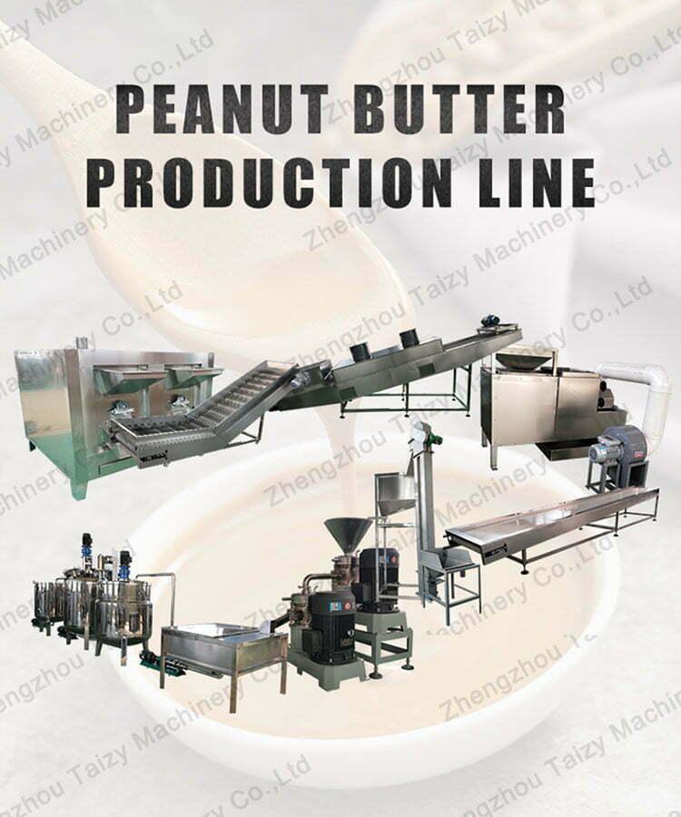 semi-automatic peanut butter production line