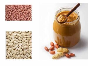 peanut kernels and peanut butter