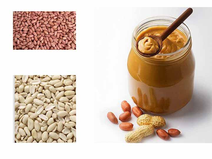 peanut kernels and peanut butter