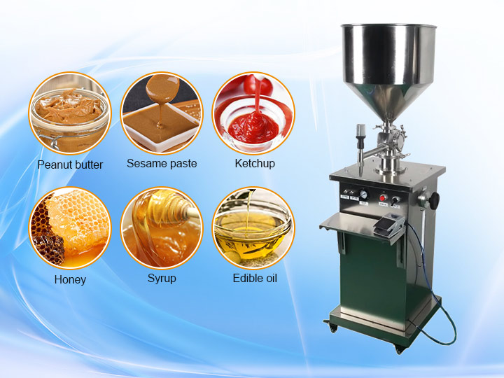 vertical peanut butter filler machine