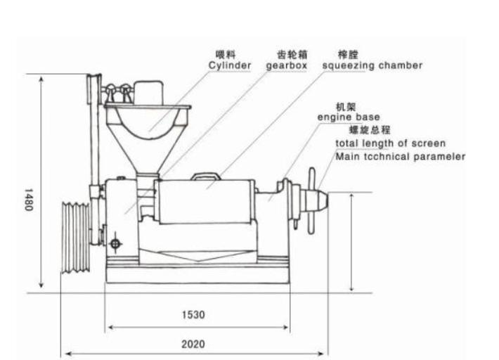 automatic oil expeller machine structure
