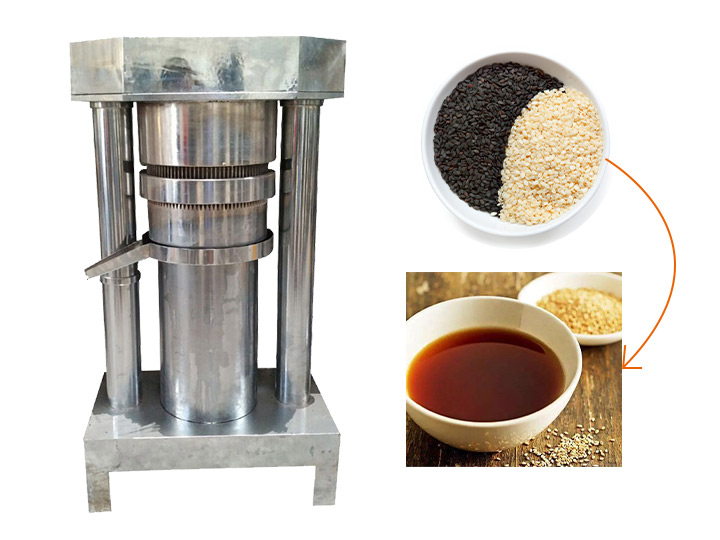 cold hydraulic sesame oil press machine