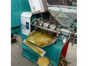 peanut oil press machine running in Nigeria