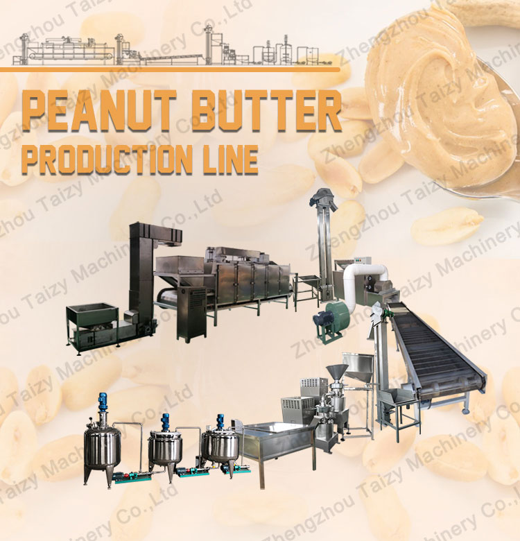 automatic peanut butter processing plant