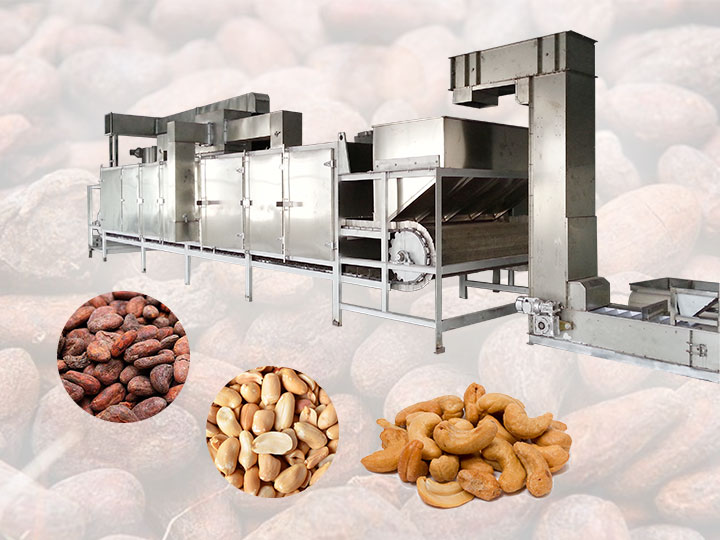 continuous chain plate tunnel oven