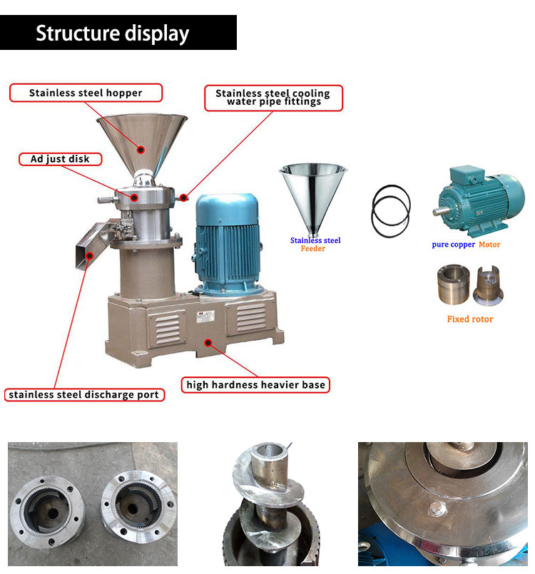peanut butter colloid mill structure
