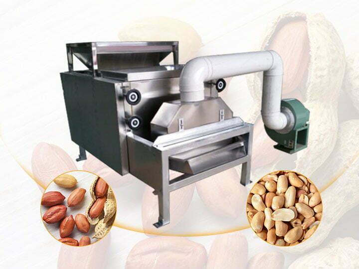 peanut peeling and half cutting machine