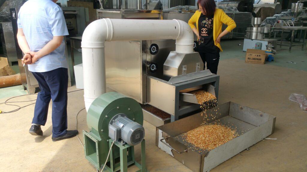 peanut peeling machine work