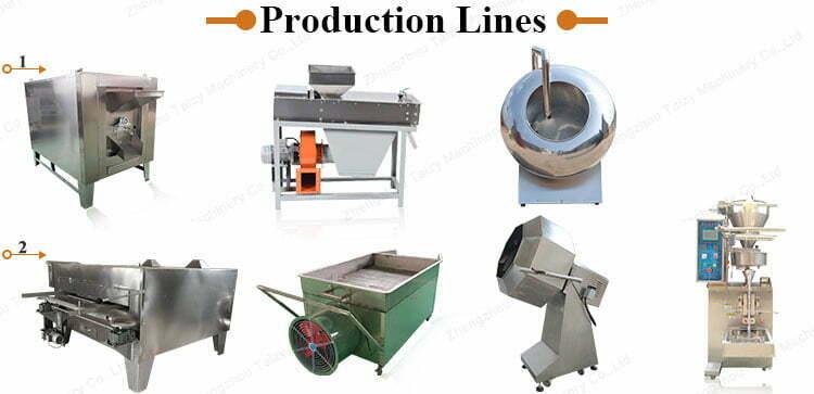 coated peanut production