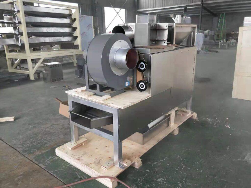 side picture of peanut half parting machine