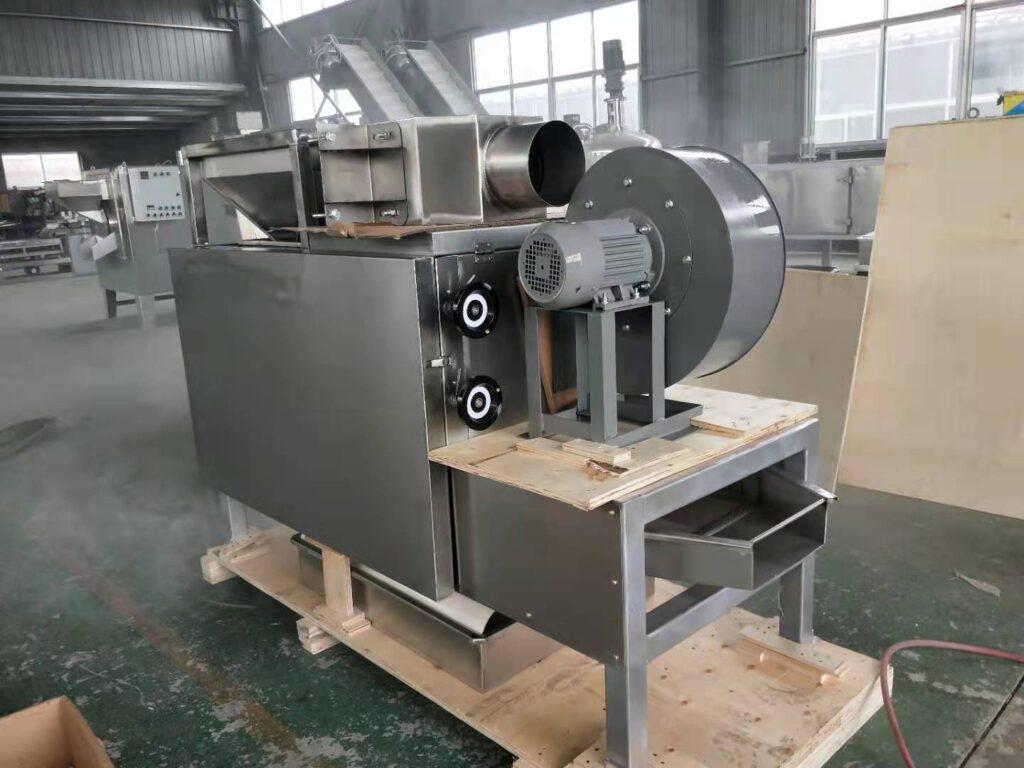 side picture of peanut half separating machine